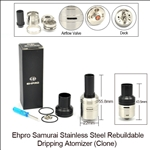 Ehpro Samurai Stainless Steel Rebuildable Dripping Atomizer (Clone)