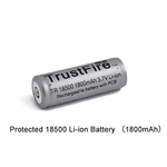 Trustfire Protected Rechargeable 18500 1800mAh Li-ion Battery