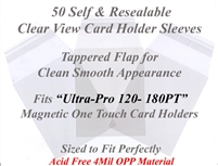 Superior Fit Sleeves for Ultra Pro One Touch Magnetic Card 120-180 PT
