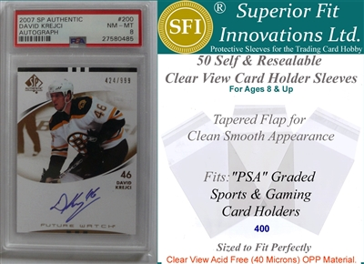 Superior Fit Sleeves for PSA Graded Card Slabs