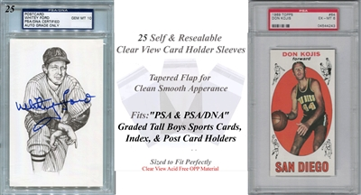 Superior Fit Sleeves for PSA/DNA Large Graded Card Slabs