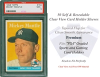 25 Perfect Fit Sleeves for PSA Graded Sports n Concert Ticket Stubs Super Sized
