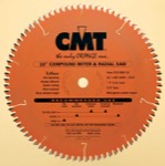 "CMT 219.110.16 16"" Diameter X 110T 4ATB+1TCG Compound Miter And Radial Saw Blade With 1"" Arbor (.118"