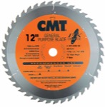 "CMT 251.045.12 12"" Diameter X 45T ATB Industrial Thin Kerf General Purpose Miter Saw Blade With 1"" A"
