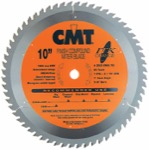 "CMT 253.060.10 10"" Diameter X 60T ATB Industrial Thin Kerf Finish Compound Miter Saw Blade With 5/8"""