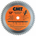 "CMT 253.072.12 12"" Diameter X 72T ATB Industrial Thin Kerf Finish Compound Miter Saw Blade With 1"" A"