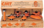 "CMT 800.515.11 Six Piece Kitchen Cove Cabinetmaking Router Bit Set With 1/2"" Shank"