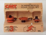 "CMT 855.803.11 Sommerfeld 3 Piece Ogee Glass Panel Router Bit Set (1/2"" Shank)"