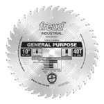 "Freud LU72M010 10"" Diameter X 40T ATB General Purpose Carbide-Tipped Saw Blade With 5/8"" Arbor (.126"