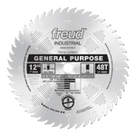 "Freud LU72M012 12"" Diameter X 48T ATB General Purpose Carbide-Tipped Saw Blade With 1"" Arbor (.126 K"