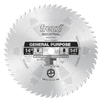 "Freud LU72M014 14"" Diameter X 54T ATB General Purpose Carbide-Tipped Saw Blade With 1"" Arbor (.138 K"
