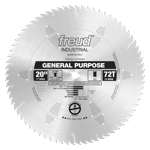 "Freud LU72M020 20"" Diameter X 72T ATB General Purpose Carbide-Tipped Saw Blade With 1"" Arbor (.165 K"