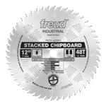 "Freud LU81M012 12"" Diameter X 48T TCG Heavy Duty Multipurpose Carbide-Tipped Saw Blade With 1"" Arbor"