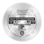 "Freud LU82M012 12"" Diameter X 72T TCG Stacked Chipboard Carbide-Tipped Saw Blade With 1"" Arbor (.126"