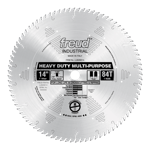 "Freud LU82M014 14"" Diameter X 84T TCG Stacked Chipboard Carbide-Tipped Saw Blade With 1"" Arbor (.169"