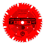 "Freud LU83R008 8"" Diameter X 40T Comb Coated Thin Kerf Combination Carbide-Tipped Saw Blade With 5/8"