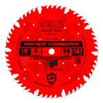 "Freud LU83R010 10"" Diameter X 50T Comb Coated Thin Kerf Combination Carbide-Tipped Saw Blade With 5/"