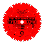 "Freud LU83R012 12"" Diameter X 60T Comb Coated Thin Kerf Combination Carbide-Tipped Saw Blade With 1"""