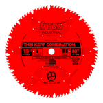 "Freud LU83R015 15"" Diameter X 80T Comb Coated Thin Kerf Combination Carbide-Tipped Saw Blade With 1"""