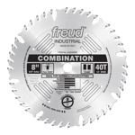 "Freud LU84M008 8"" Diameter X 40T Comb Combination Carbide-Tipped Saw Blade With 5/8"" Arbor (.126 Ker"