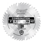 "Freud LU84M009 9"" Diameter X 40T Comb Combination Carbide-Tipped Saw Blade With 5/8"" Arbor (.126 Ker"
