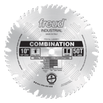 "Freud LU84M011 10"" Diameter X 50T Comb Combination Carbide-Tipped Saw Blade With 5/8"" Arbor (.126 Ke"
