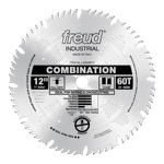 "Freud LU84M012 12"" Diameter X 60T Comb Combination Carbide-Tipped Saw Blade With 1"" Arbor (.126 Kerf"