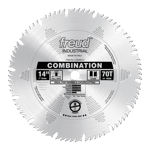 "Freud LU84M014 14"" Diameter X 70T Comb Combination Carbide-Tipped Saw Blade With 1"" Arbor (.157 Kerf"
