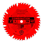 "Freud LU84R009 9"" Diameter X 40T Comb Coated Combination Carbide-Tipped Saw Blade With 5/8"" Arbor (."