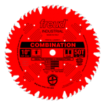 "Freud LU84R011 10"" Diameter X 50T Comb Coated Combination Carbide-Tipped Saw Blade With 5/8"" Arbor ("