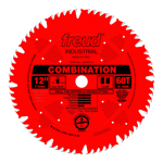 "Freud LU84R012 12"" Diameter X 60T Comb Coated Combination Carbide-Tipped Saw Blade With 1"" Arbor (.1"