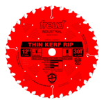 "Freud LU87R012 12"" Diameter X 30T Flat Thin Kerf Rip Carbide-Tipped Saw Blade With 1"" Arbor (.098 Ke"