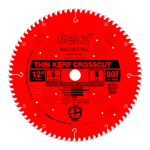 "Freud LU88R012 12"" Diameter X 80T ATB Thin Kerf Fine Finish Crosscut Carbide-Tipped Saw Blade With 1"