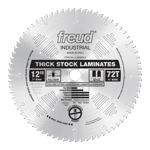 "Freud LU92M012 12"" Diameter X 72T MTCG Thick-Stock Laminate Carbide-Tipped Saw Blade With 1"" Arbor ("
