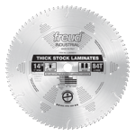 "Freud LU92M014 14"" Diameter X 84T MTCG Thick-Stock Laminate Carbide-Tipped Saw Blade With 1"" Arbor ("