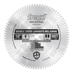 "Freud LU97M010 10"" Diameter X 80T TCG Double Sided Laminate/Melamine Carbide-Tipped Saw Blade With 5"