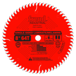 "Freud LU98R008 8"" Diameter X 64T TCG Single Sided Laminate/Melamine Carbide-Tipped Saw Blade With 5/"