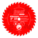 "Freud P408 8"" Diameter X 34T Hi-ATB Combination Carbide-Tipped Saw Blade With 5/8"" Arbor (.126"" Kerf"