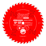 "Freud P410 10"" Diameter X 40T Hi-ATB Combination Carbide-Tipped Saw Blade With 5/8"" Arbor (.126"" Ker"