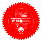 "Freud P412 12"" Diameter X 48T Hi-ATB Combination Carbide-Tipped Saw Blade With 1"" Arbor (.126"" Kerf)"