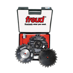 "Freud SD608 8"" Diameter X 24T Dial-A-Width Dado Carbide-Tipped Saw Blade Set With 5/8"" Arbor"