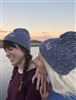 Navy Heather Beanie Lucky Finn Weave (Unisex)