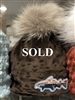 Mink Fleece Beanie w/upcycled authentic fur Pom Pom