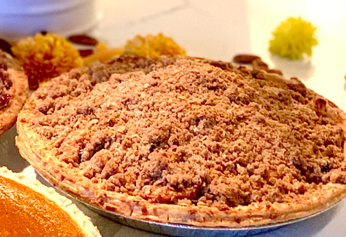 Apple Cranberry Crumble Pie