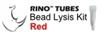 #3ISREDR1 RED RINO Bead Lysis Kit - larger soft samples, 1 pack of 50, Non-sterile
