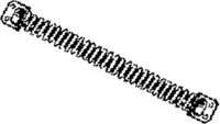 "S. Parker Hardware 45014 Heavy Duty Coil Spring 14"" Card"