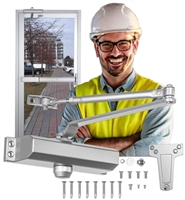 DC USA Approved Tubelite Storefront Door Replacement ADA Compliant Door Closer