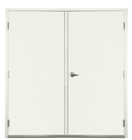"Apache Commercial Steel Door For Metal Building 6'-0"" x 7'-0"", White Finish; 20 Gauge Door, 8-1/4"" Depth, Left Hand Active, Includes Hinges, Lock, Latchguard, Threshold, Surface Bolts, Flat Astragal and Weatherstrip, Made in USA"