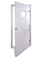 "Flange Frame Door System With 10"" x 10"" Window"