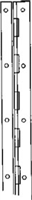 "S. Parker Hardware Bch1Qd5, Open 1-1/4"", Gauge Width .040, Length 5', Pin Diameter .106 Continuous Hinge Solid Brass In Chrome Plated Drilled And Countersunk"
